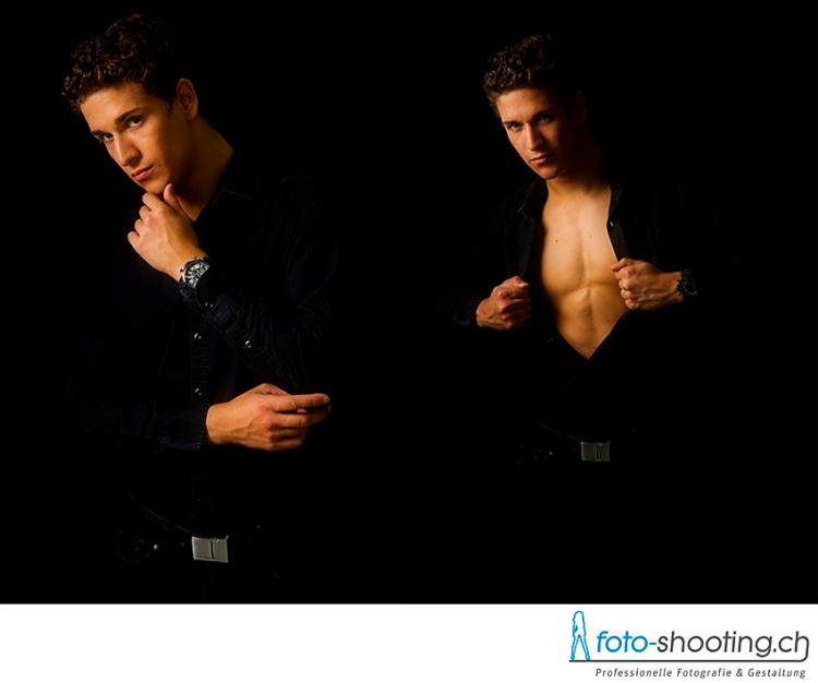 fotoshooting mit mann